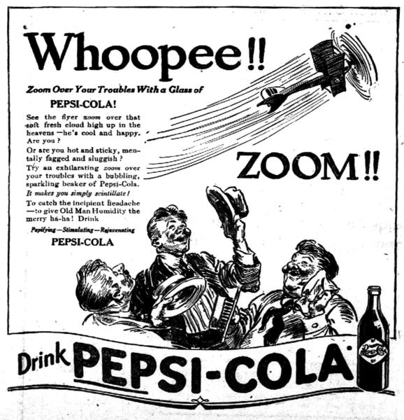 """""""Pepsi""""-ს პირველი საგაზეთო რეკლამა, 1919 წელი"""